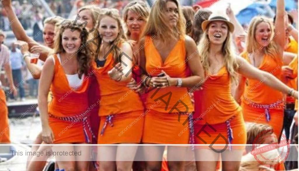 Girls in Shorts Flashing on Bridge in Amsterdam